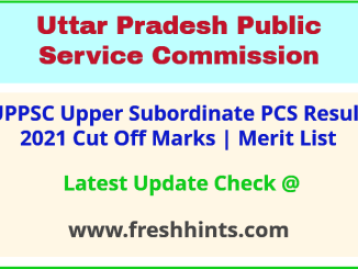 UP Upper Subordinate Selection List 2021