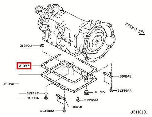 Replacement Infiniti Automatic Trans Oil Pan Gasket