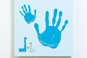 Hand Print or Foot Print Kit: Remember tiny & hands feet.