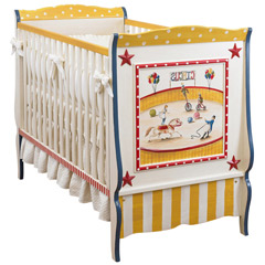 vintage circus crib