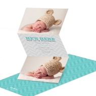 Chevron fold out cards give you plenty of room for lots of photos!