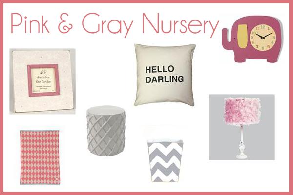 pink and gray nursery theme