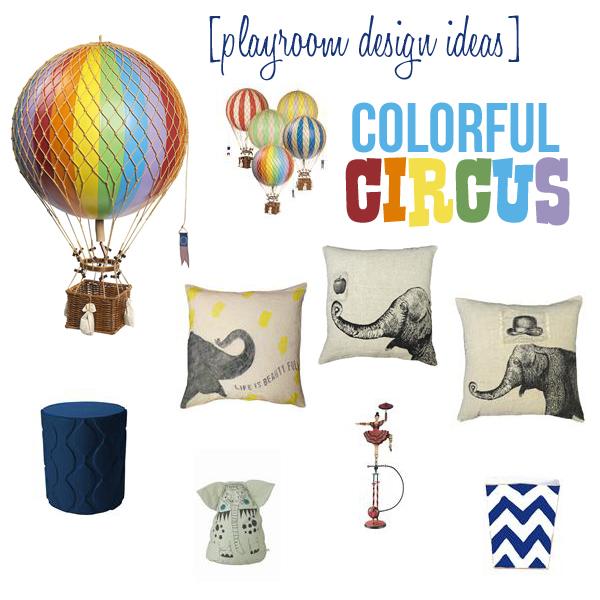 Playroom Design Ideas - Colorful Circus