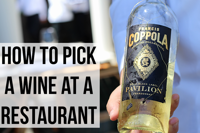 how to pick a wine at a restaurant