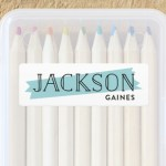 Minted's Stylish Name Labels