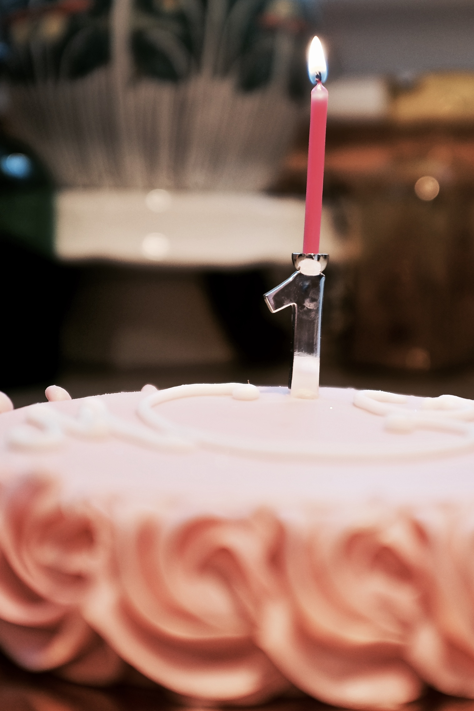 A Baby Gift Moms Will Use Every Year: Birthday Cake Silver Candle Holders