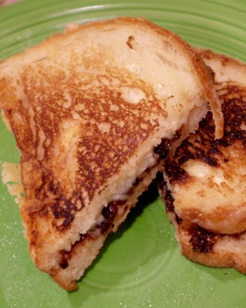 Grilled cheese with fig