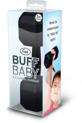 Baby dumbbell rattle