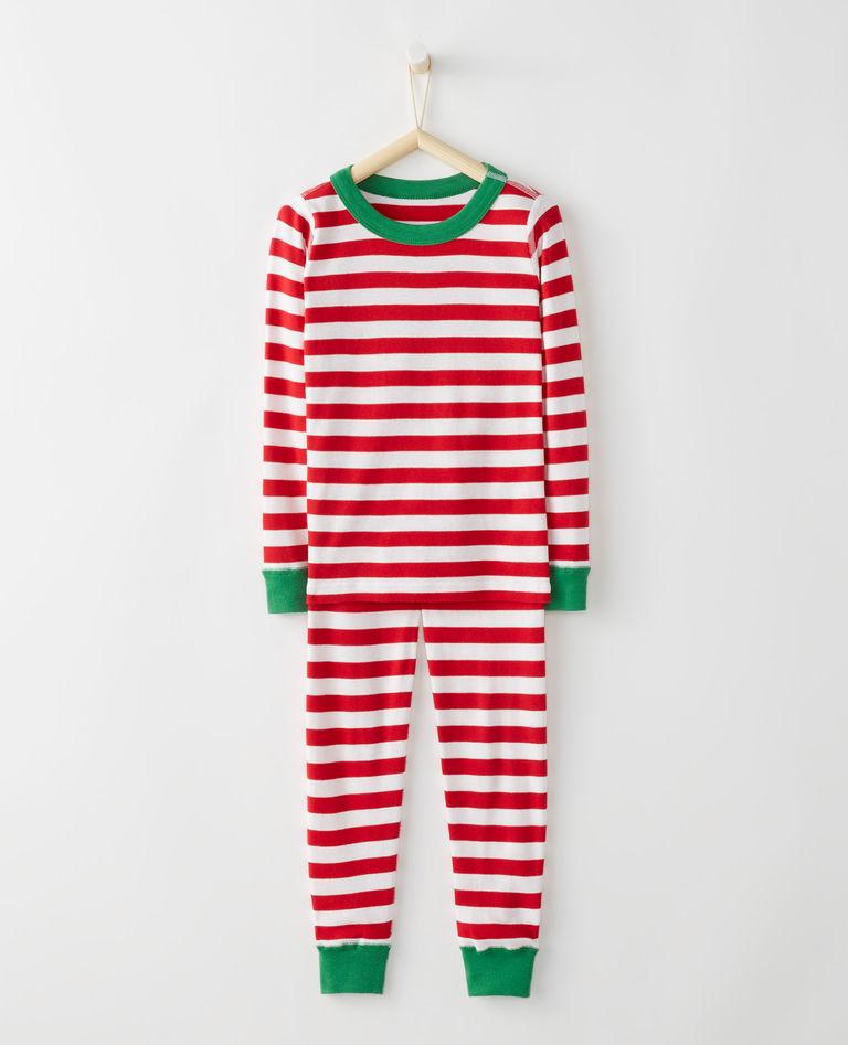 Red striped christmas pajamas