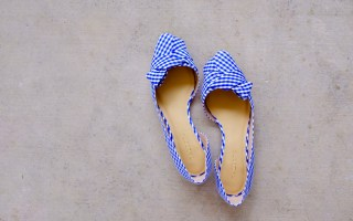 Blue Gingham Shoes