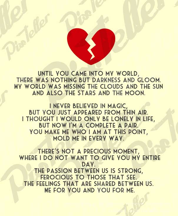 You And Me Love Poems