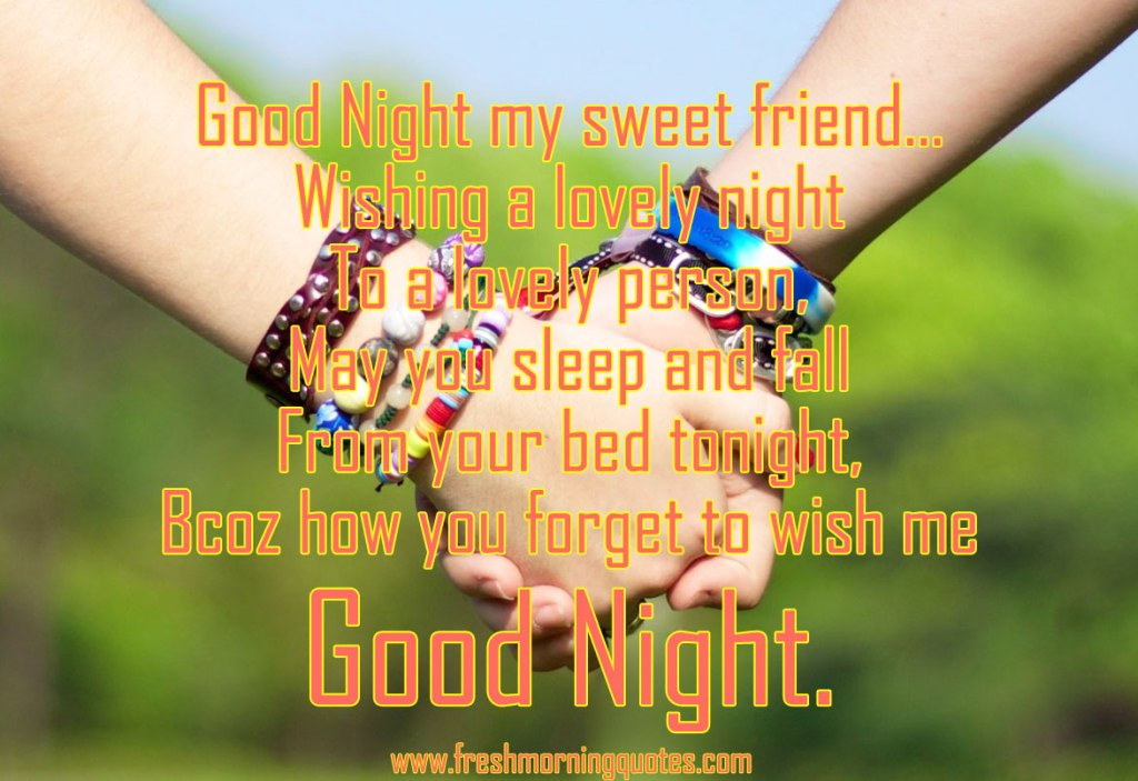 75 Good Night Messages for Friends  Freshmorningquotes