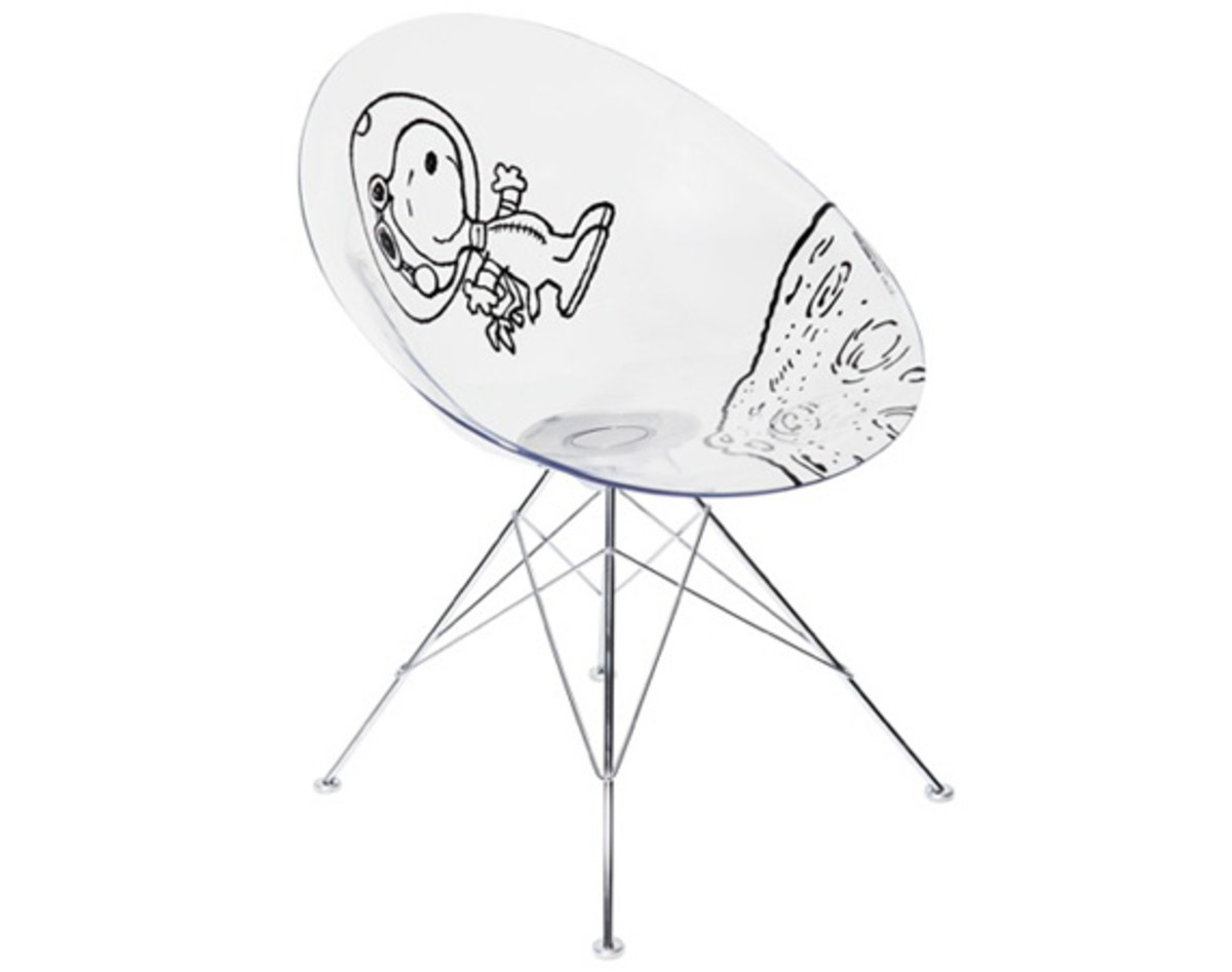 Kartell X Black Peanuts Astronaut Snoopy Ero S Chair By