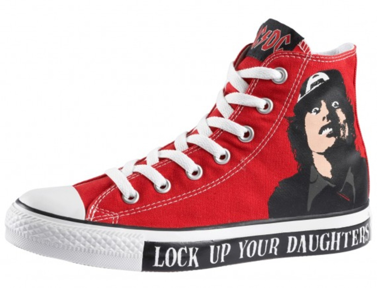 converse chucks ALL STAR ACDC back in black schwarz LIMITED