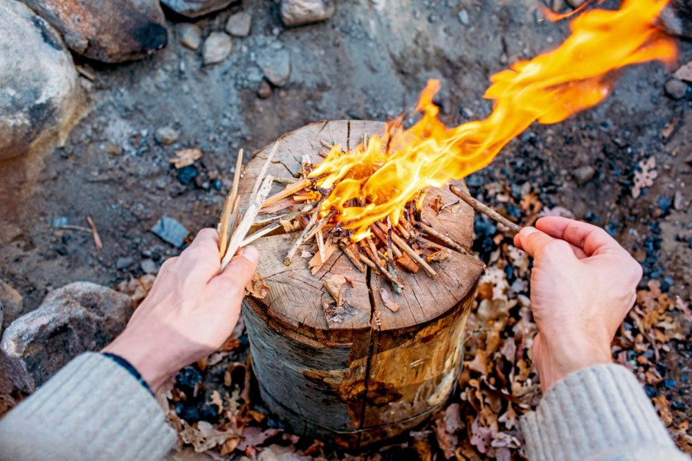 medium resolution of make a stove out of a single log learn to make a swedish torch with