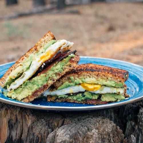 avocado toast breakfast sandwich