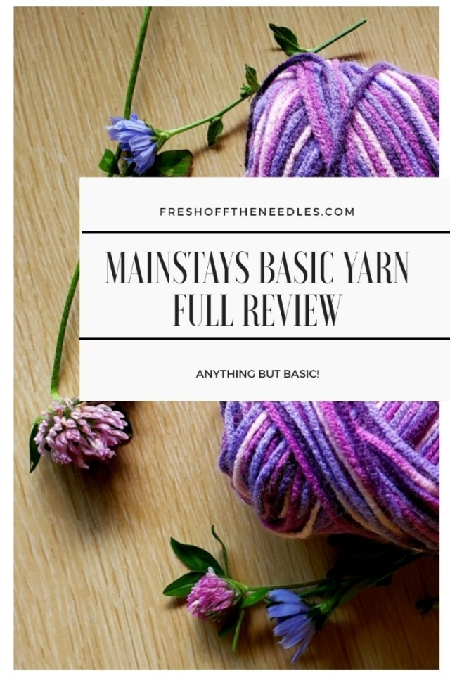 mainstays yarn review fresh off the needles