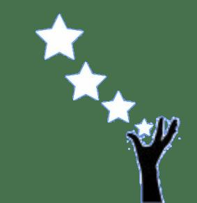 hand reaching for stars