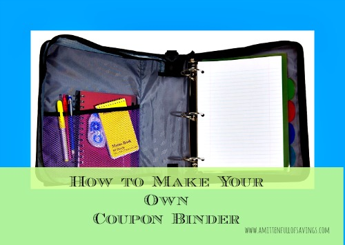 how to make your own coupon binder
