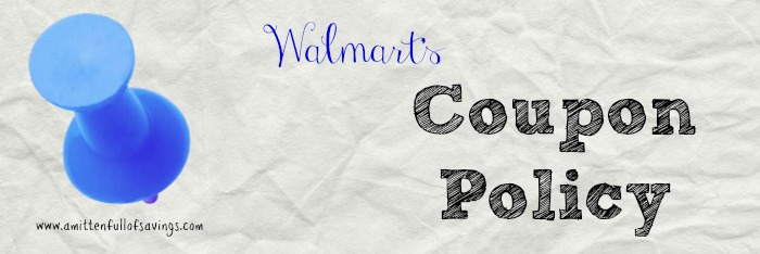 walmart coupon policy