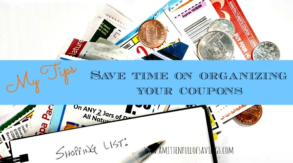 save time on organizing your coupons
