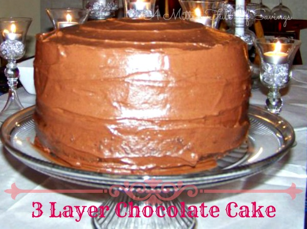 3 layer chocolate cake