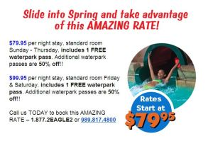 spring rate deal for soaring water