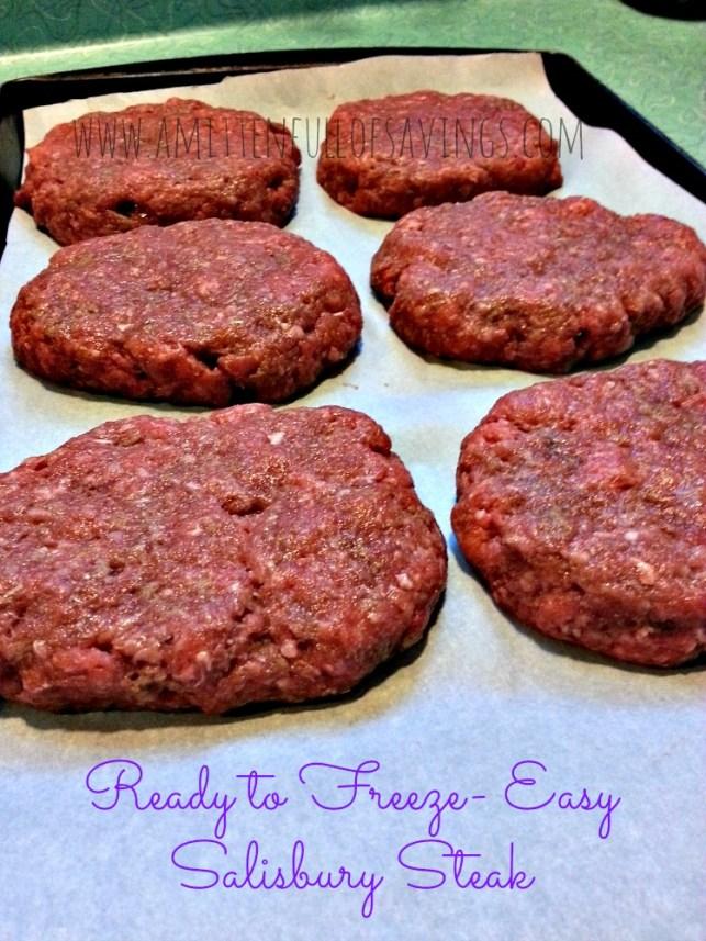 Easy Salisbury Steak Ready to Freeze