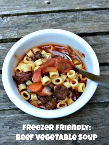 Freezer Beef Vegetable Soup