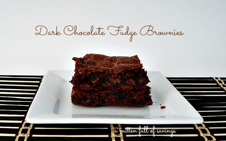 dark chocolate fudge brownies1