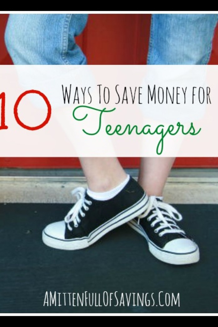 10 Ways To Save Money For Teenagers