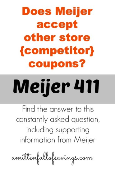 meijer coupon policy, coupon policy for meijer, meijer deals, meijer competitor coupons