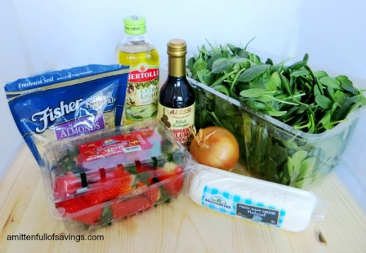 Strawberry Spinach Salad ingredients