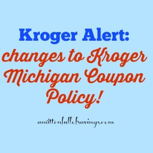 kroger coupon policy