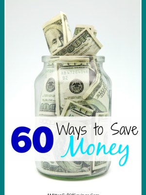 60 ways to save money