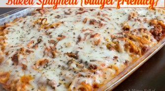 Baked Spaghetti {budget-friendly}