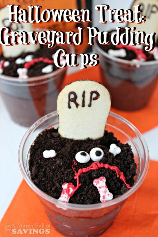 Halloween Treat Graveyard Pudding Cups