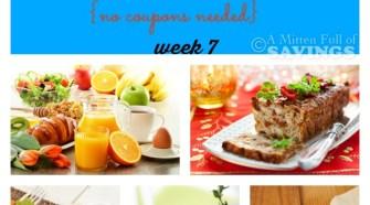 Meijer Meal Planning 7 Meals under $60 bucks Week 7