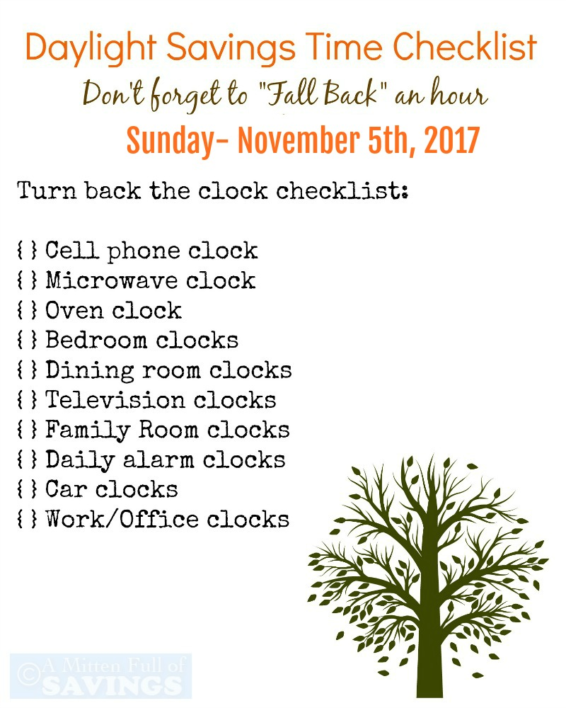 Don T Forget To Set Your Clocks Back Daylight Savings