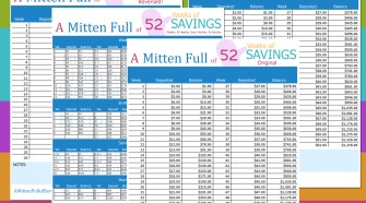 A great way to save money using this EASY system. You can choose to save weekly, bi-weekly, semi or monthly. Several different 52 Week Challenge forms to choose from!