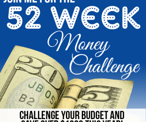 Join the 52 Week Money Saving Challenge! Challenge the way you save your money with multiple ways to save money each week!