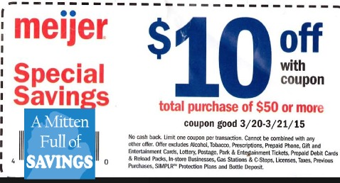 picture regarding Meijer Printable Coupons identified as Meijer: Explanation upon the $10/$50 Coupon for this weekend