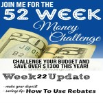 If you're not doing this one, you are leaving money on the table! Find out how to use rebates and get your money back America! - 52 Week Challenge how to use rebates