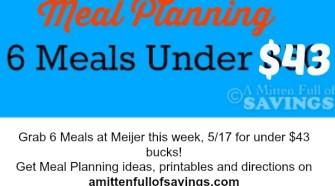 meal planning, meijer mealbox, meijer meal planning