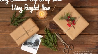 Easy Christmas Gift Wrap Ideas Using Recycled Items