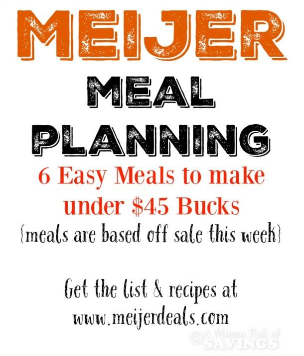 Meijer Meal Planning