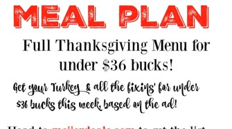 Meijer Meal Planning Thanksgiving Dinner