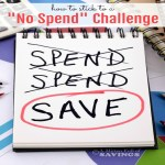 How to Stick to a No Spend Challenge