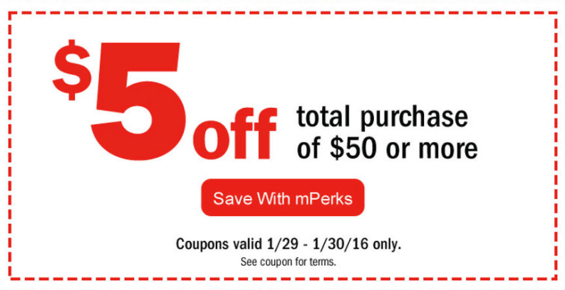 mPerk coupons to use