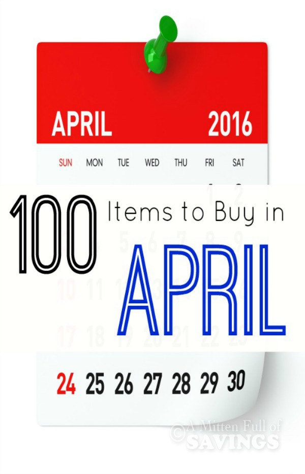 What To Buy In April- 100 Items To Buy in the month of April